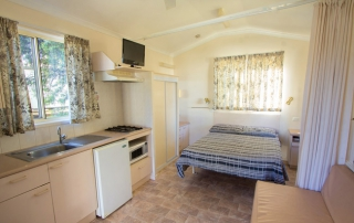 Cabins - Kitchen and Bedroom